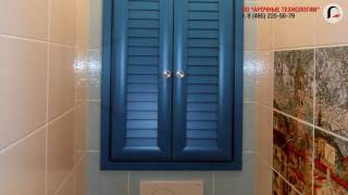 видео дверцы для сантехнического шкафа в туалете