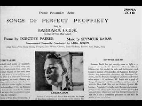 Barbara Cook 1958 -- Songs by Dorothy Parker and Seymour Barab
