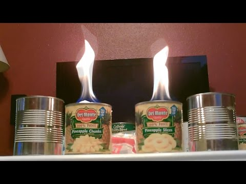 "Homemade ""Steel Can"" Heater/Stove! - The ""Cotton Ball"" heater/stove! - Easy DIY"