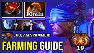 HOW TO CRAZY FAST FARM LIKE A 8K ANTI MAGE SPAMMER 10Min Battle Fury + Ultra Instinct 890 GPM DotA 2