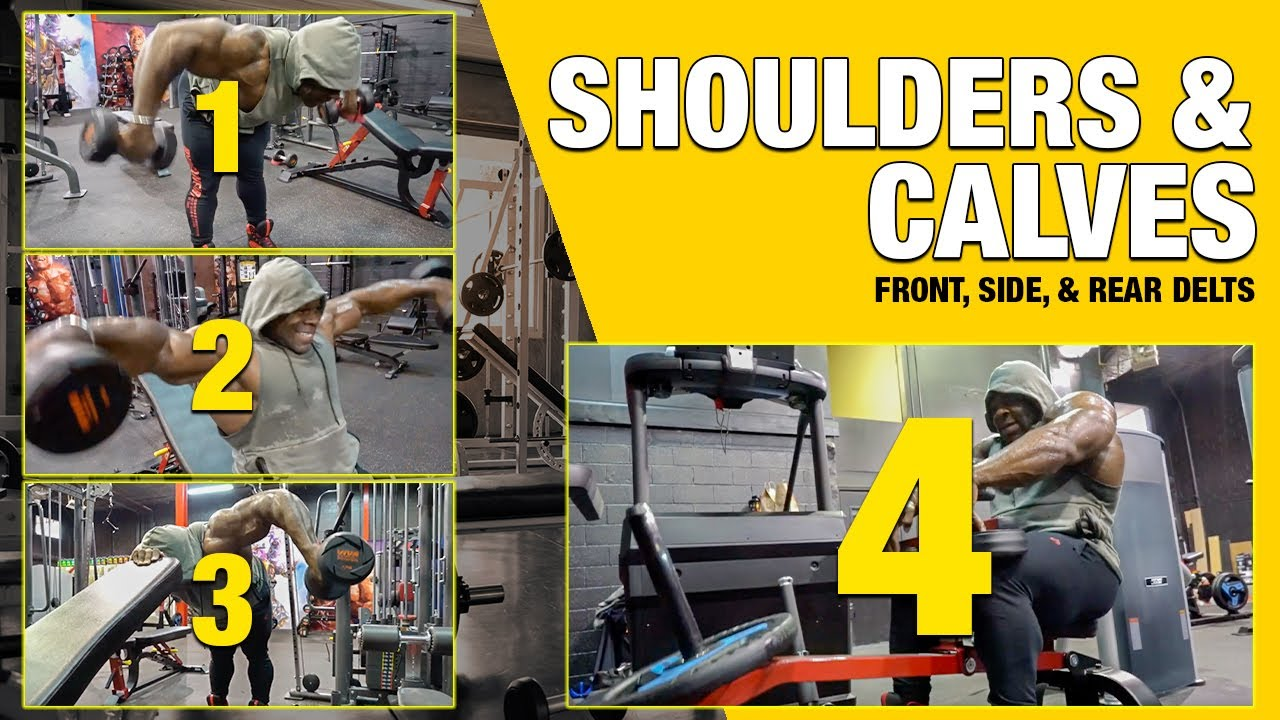 SHOULDER & CALVES WORKOUT - Front, Side, & Rear Delts