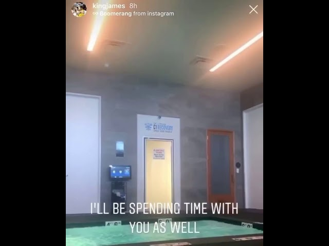LeBron James uses Cryotherapy