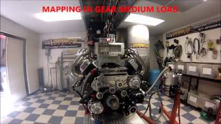 800 cubic inch Non Supercharged engine first time mapping at BOOSTPOWER MARINE