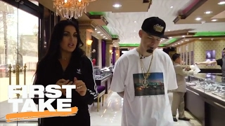 Rapper Paul Wall Fits Molly Qerim For A Grill | First Take | February 2, 2017