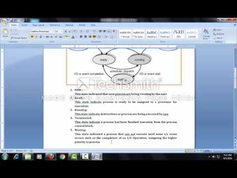 Process Five State Model & Types of Scheduler(Lecture #7) By Prof.Vikash Katariya