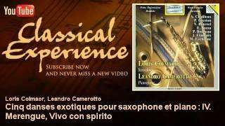 Jan Françaix : Cinq danses exotiques pour saxophone et piano : IV. Merengue, Vivo con spirito