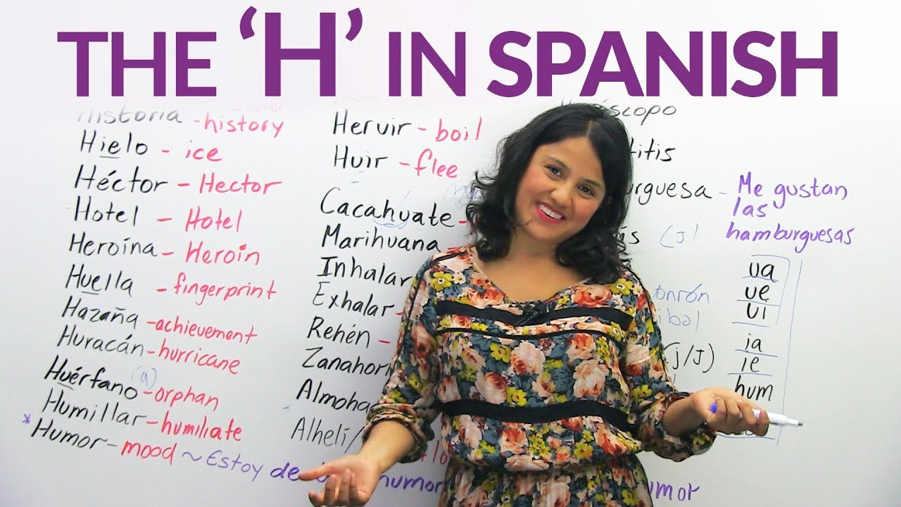 The Letter H In Spanish