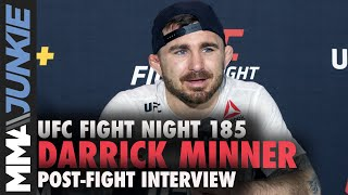 Darrick Minner happy to shed 'first round or bust label' with decision | UFC Fight Night 185