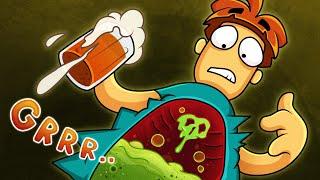 Что если выпить 5 бокалов пива на пустой желудок?