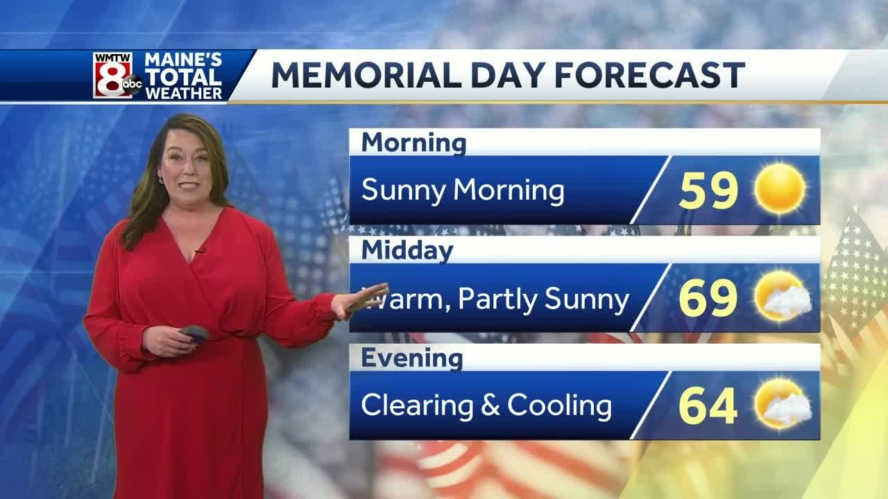Your Memorial Day forecast, brightest in the morning