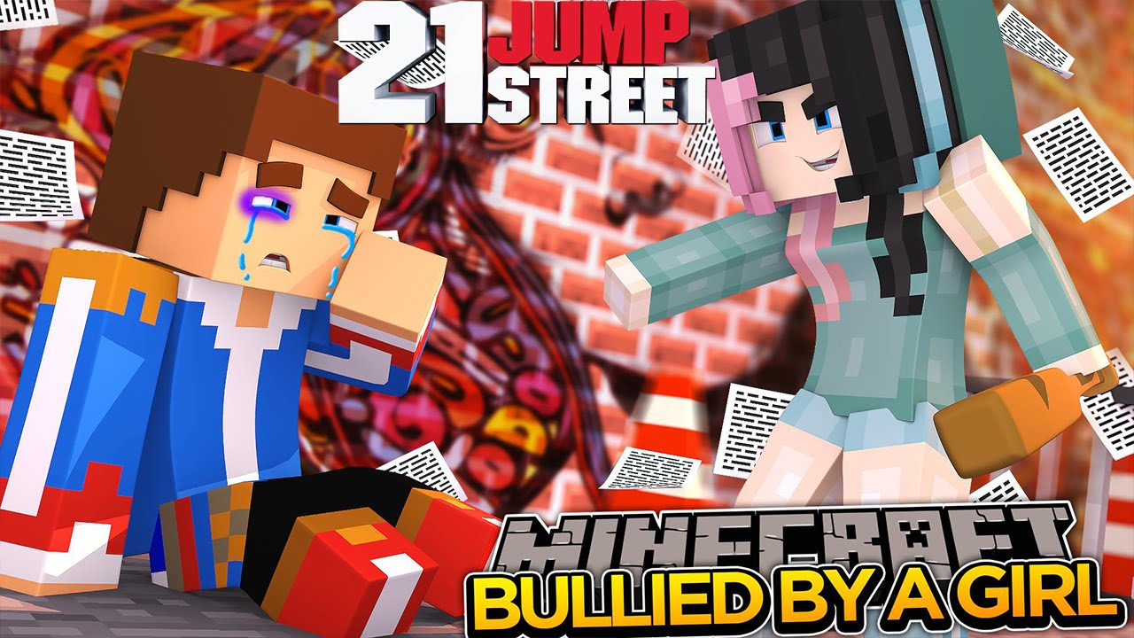 Minecraft - BULLIED BY A GIRL IN SCHOOL!!!  - Little Donny Adventures.