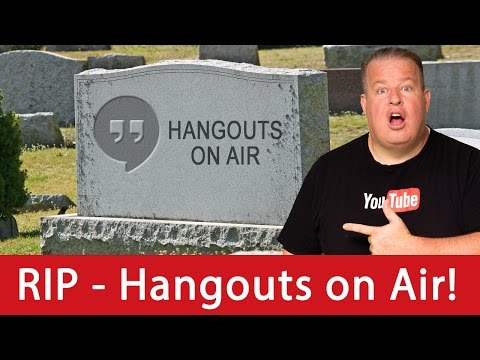 YouTube Live Updates:  RIP - Hangouts on Air!