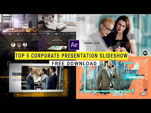 Top 5 Corporate Presemtation Slideshow Free After effect Template