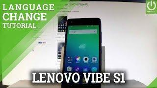 How to Change Language in LENOVO Vibe S1 - Language Settings