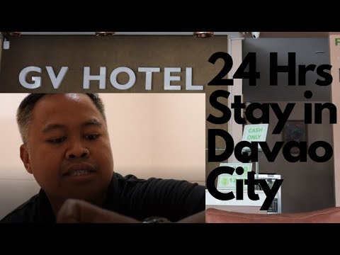 24 Hrs Stay In Davao City [GV HOTEL Room Tour]
