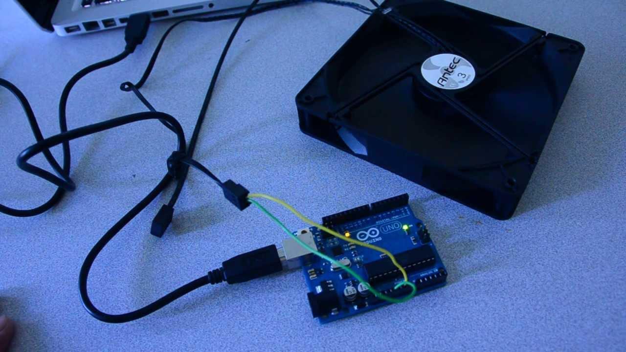 Usb Powered Computer Case Fan Arduino Youtube