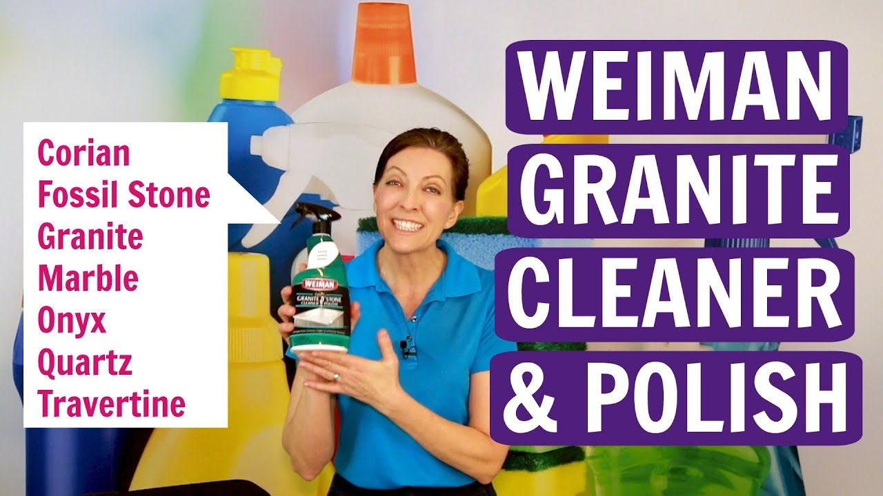 How To Clean Granite And Marble With Weiman Cleaner And Polish Product Review Youtube