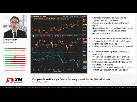 Forex News: 31/01/2019 - Dovish Fed weighs on dollar but lifts risk assets