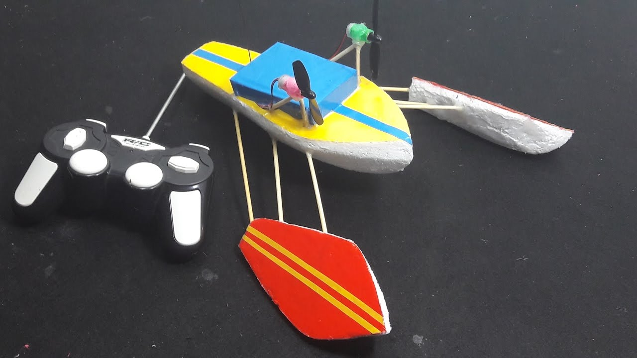 how to make a rc boat out of foam