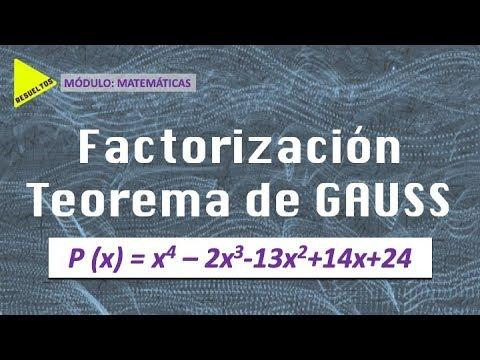 TEOREMA De GAUSS - Factorización De POLINOMIOS
