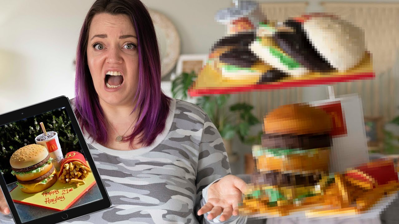 I ordered EPIC MCDONALD'S Cakes from an At-Home vs. PRO Bakery!