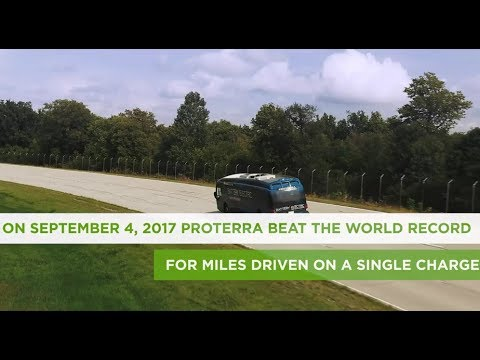 Proterra Catalyst® E2 Max Sets World Record and Drives 1,101.2 Miles on a Single Charge