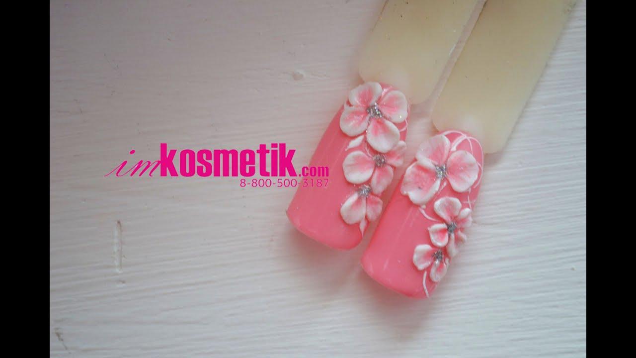 Дизайн фото лепки на ногтях
