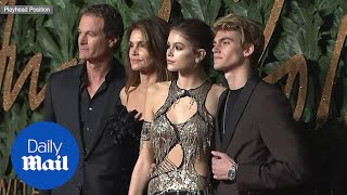 Cindy Crawford and others attend the British Fashion Awards