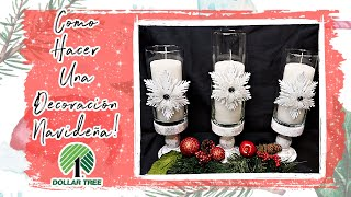 🎄Turn An Ornament Into A Beautiful Christmas Decoration! Everything From The Dollar Tree!