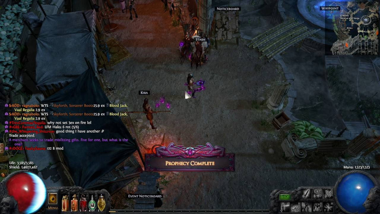 Path Of Exile A mysterious gift Prophecy League Carcass Jack - YouTube