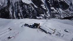 Vues aériennes du domaine skiable de Sorebois à Zinal [Drone]