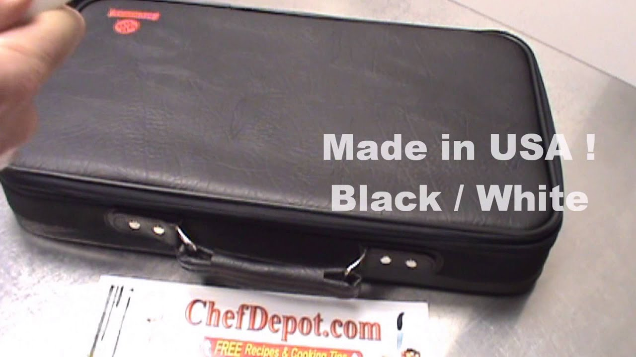 Chef Knife Set With Carrying Case