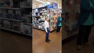 Little boy singing country song at walmart!! (Full song).mp3
