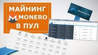 Майнинг для начинающих Monero, майнинг на процессоре, видеокарте в пул Minergate
