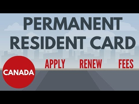 CANADA PERMANENT RESIDENT CARD - PR Card Canada