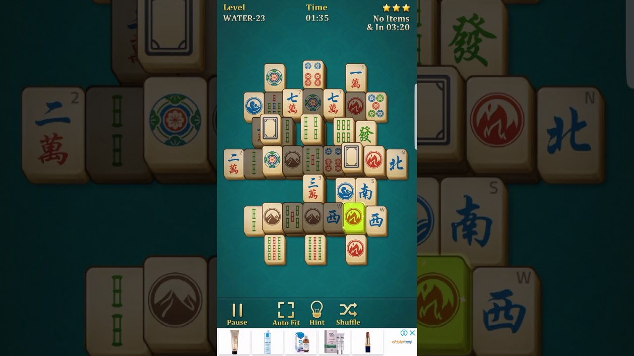 Mahjong solitaire classic water - 23