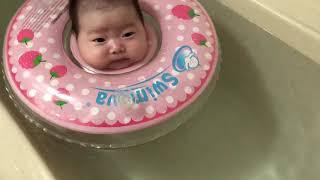 육아브이로그/슬아 첫아기수영/스위마바 목튜브(생후45일…