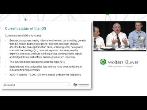 CCH Networks - International Dealings Schedule (IDS) - Compliance Update from the ATO