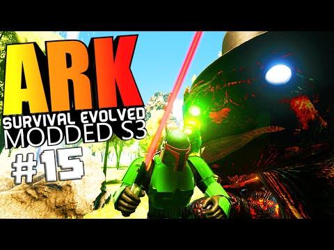 ARK Survival Evolved - TURTLE WARDEN FIGHT, BOBA FETT, STAR WARS MOD Modded #15 (ARK Mods Gameplay)