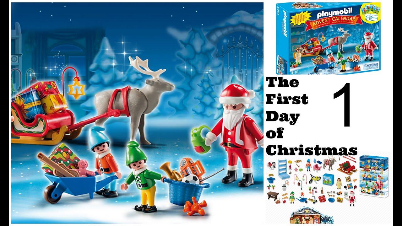 Playmobil Christmas ADVENT Calendar 2014 - Day 1 One- 25 Days of ...
