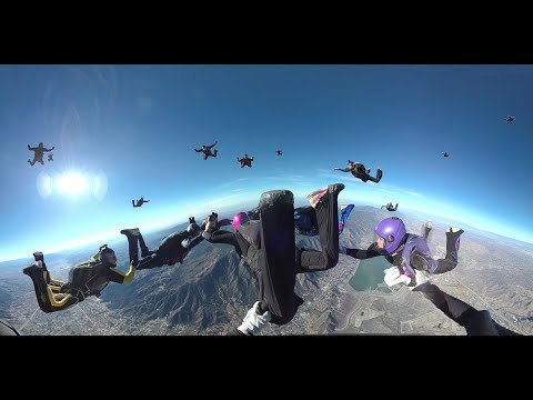 360 VR 4k Skydiving in Formation Over Skydive Elsinore 2