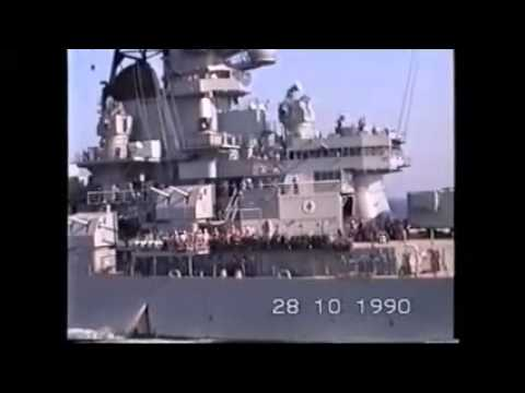 USS Wisconsin replenishment at sea