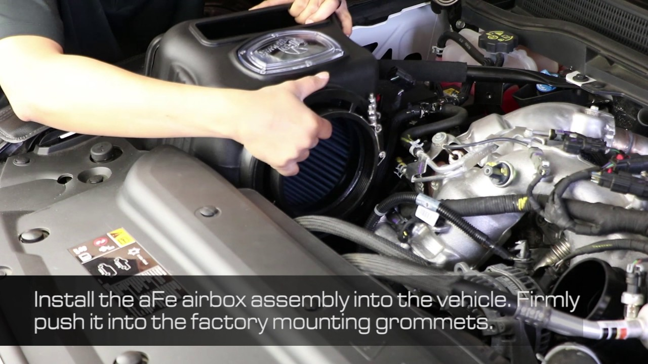how to install afe power 2017 gm diesel trucks v8 6 6l duramax l5p momentum hd intake 50 74008  [ 1280 x 720 Pixel ]