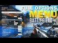 Battlefield 5 Full Options Menu on PC