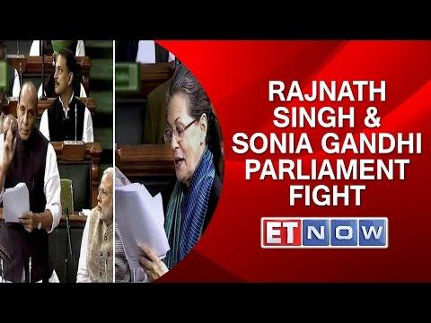 Rajnath Singh & Sonia Gandhi Parliament Fight | Congress vs BJP