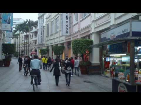 Walking Street in Downtown Zhongshan. Guangdong, China