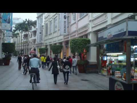 Walking Street in Downtown Zhongshan. Guangdong, China