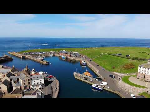 Eyemouth Harbour Drone Footage May 2018