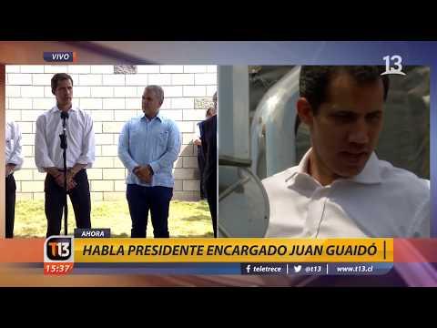 Piñera y Guaidó sobre ayuda humanitaria para Venezuela