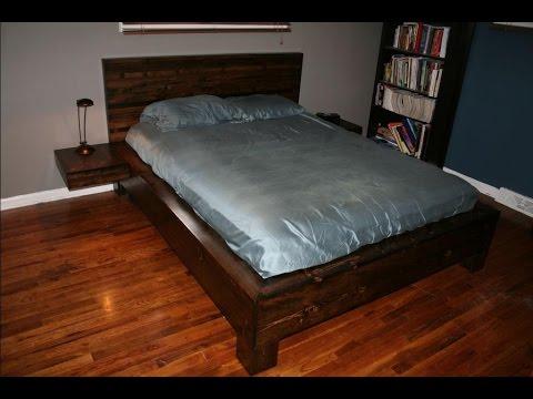 Кровать с плавающими тумбочками своими руками